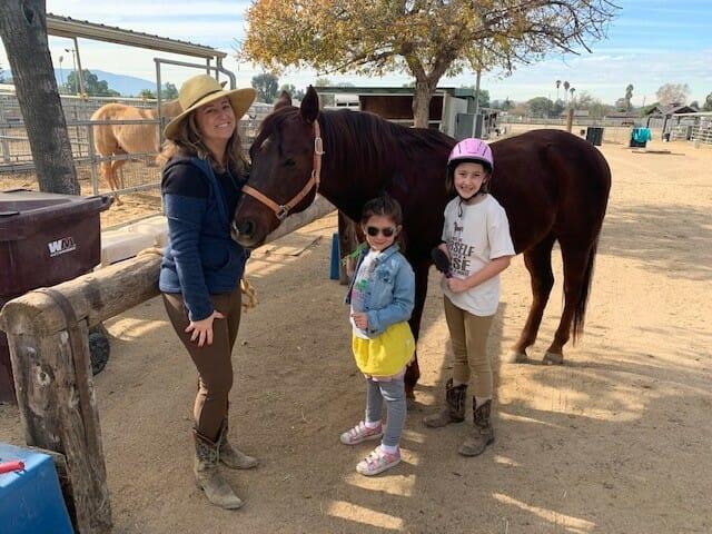 Family and Tucker the horse