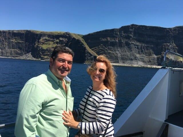 Jim and Tina in Ireland